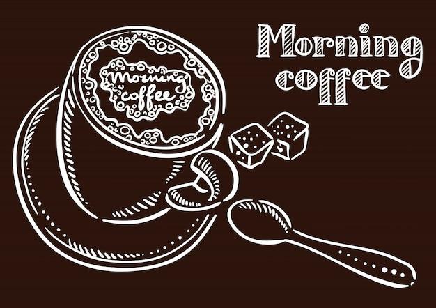 Утренняя кофейная надпись