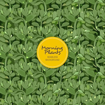 Morning plant seamless background