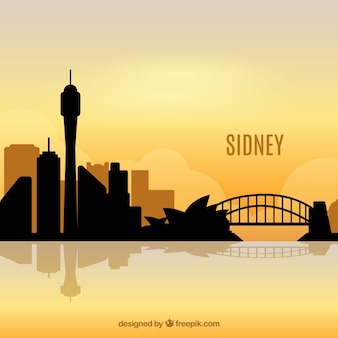 Morning skyline of sydney
