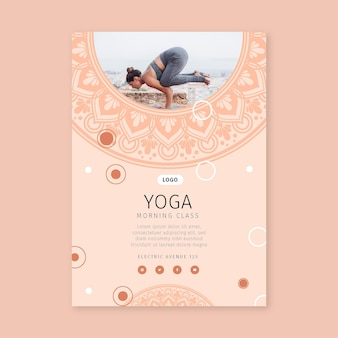 Morning yoga class vertical flyer
