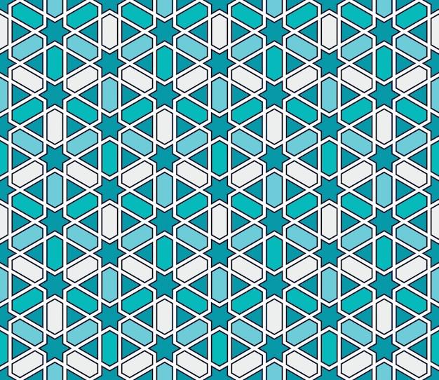Moroccan style mosaic seamless pattern