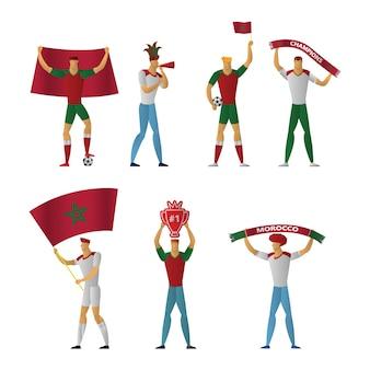 모로코 축구 팬들 명랑 축구