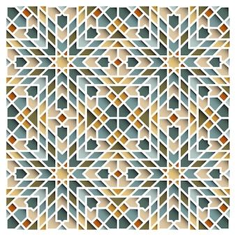 背景、壁紙のモロッコ幾何学模様。