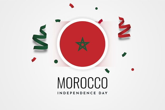 Дизайн шаблона иллюстрации празднования дня независимости марокко