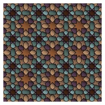 モロッコのシームレスなパターンデザイン