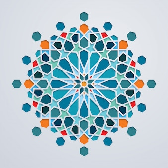 Moroccoan background colorful geometric arabic ornament