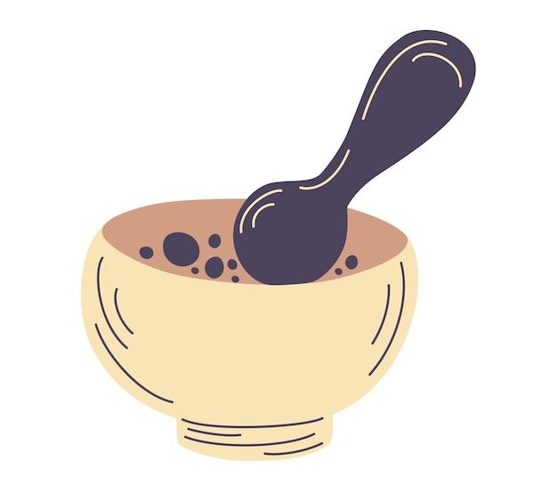 すり鉢とすりこぎ。自然代替医療。ホメオパシー。ハーブを混ぜる。挽くボウル。