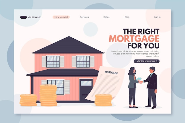 Mortgage landing page concept