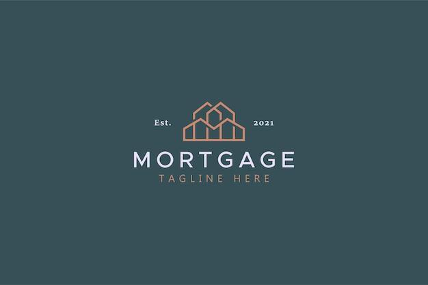 Mortgage real estate business logo