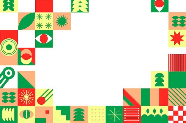 Mosaic background geometric design