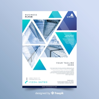 Mosaic business flyer concept template
