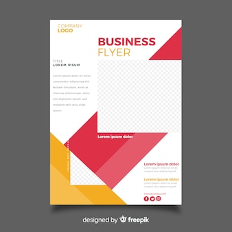 Mosaic business flyer template with copy space