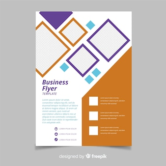 Mosaic business flyer template with diamons