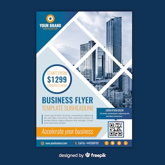 Mosaic business flyer template