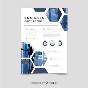 Mosaic business flyer template