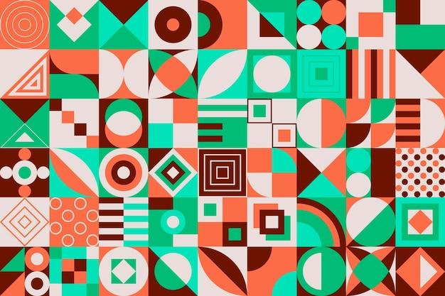 Design piatto sfondo colorato mosaico
