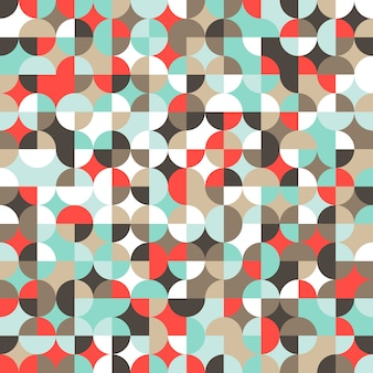 Mosaic colorful background of geometric shapes.