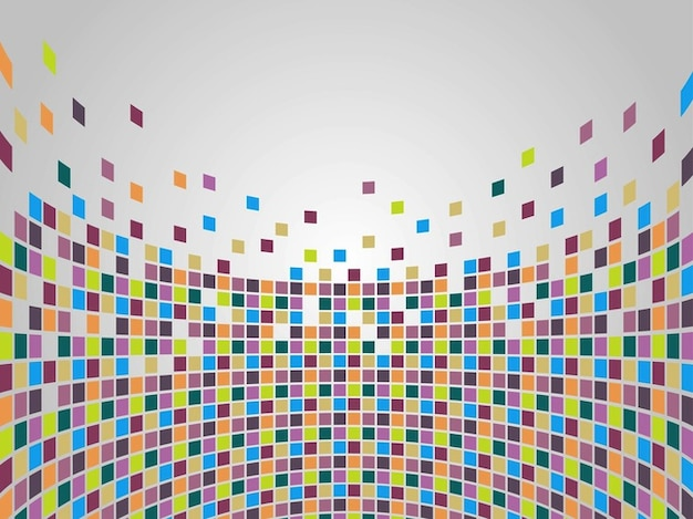 Mosaic of colorful geometric squares