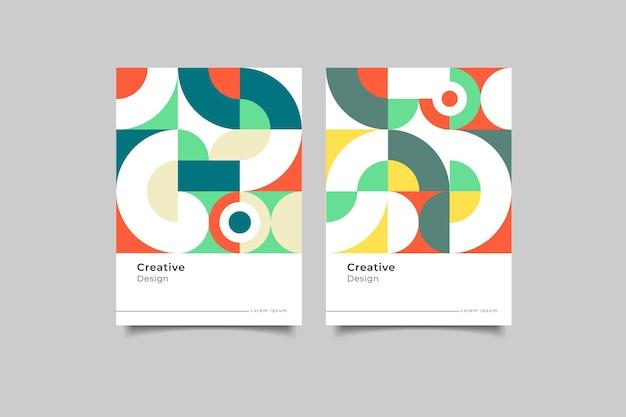 Коллекция дизайна обложки мозаики