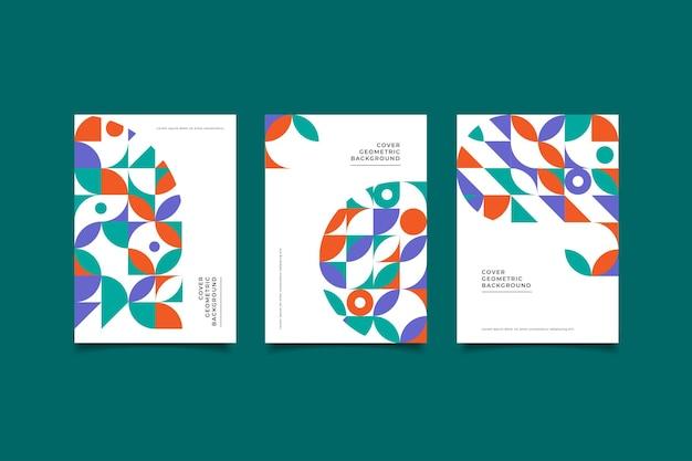 Мозаика геометрический дизайн обложки коллекции Premium векторы