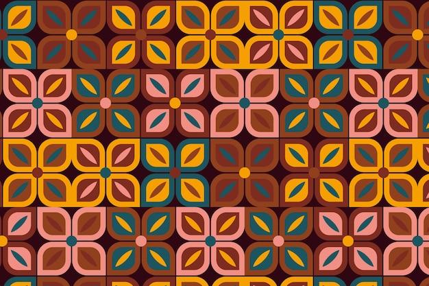 Mosaic geometric groovy seamless pattern