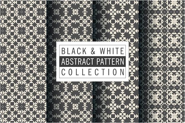 黒と白の色に設定されたモザイクパターン