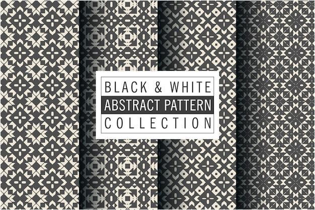 Мозаичный узор в черно-белом цвете