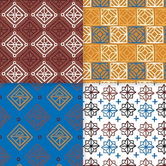 Mosaic songket seamless pattern template