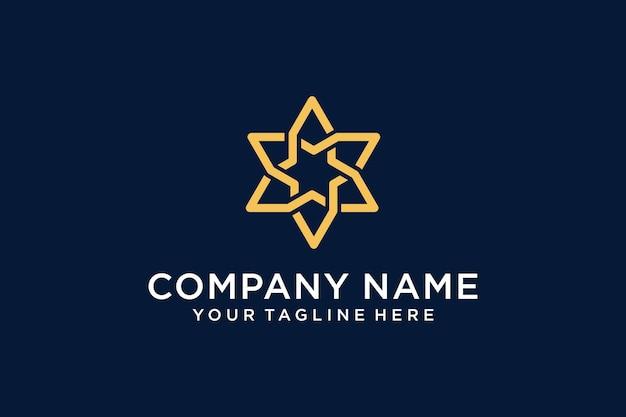 Шаблон логотипа звезды мозаики