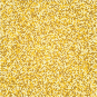 Mosaic texture with golden halftone pattern.