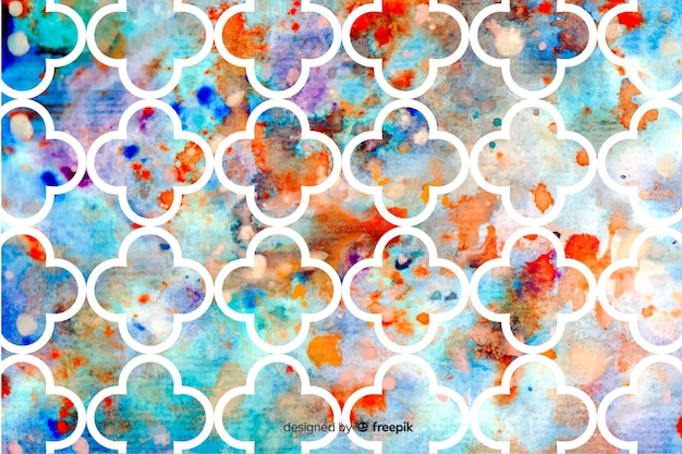 Mosaic watercolor background