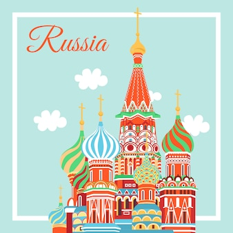 Moscow city emblem st. basil's cathedral