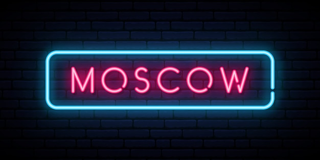 Moscow neon sign.