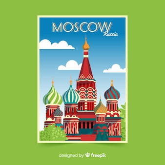 Moscow retro promotional flyer