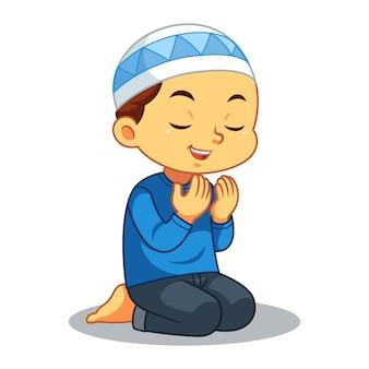 Moslem Boy Praying