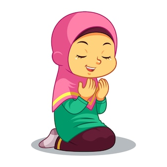 Moslem Girl Praying
