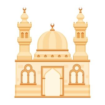 Mosque cartoon vector isolated illustration