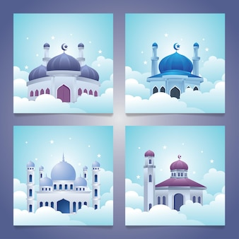 Mosque on the cloud, islamic collections