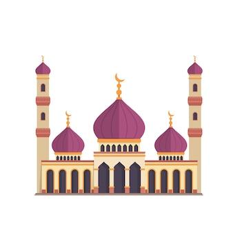 Дизайн мечети на белом фоне