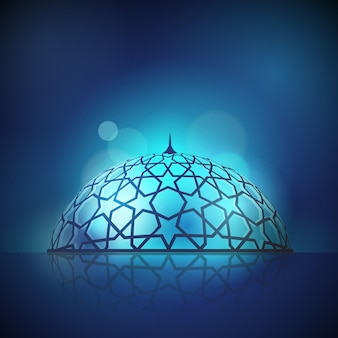 Mosque dome for islamic background design