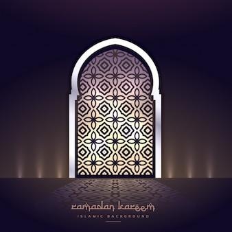 Porta moschea con luci e forma modello