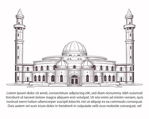 Mosque drawing