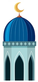A mosque element on white background