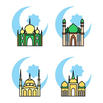 Mosque icon illustration