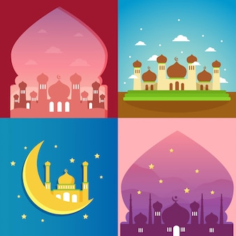 Mosque illustration collection