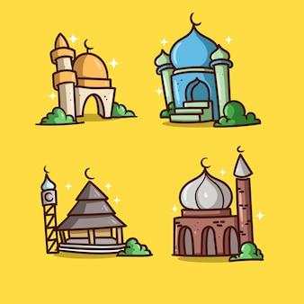 Mosque illustration ramadan