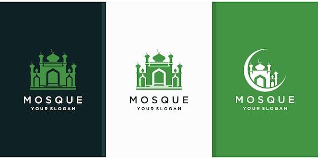 Мечеть исламский логотип шаблон