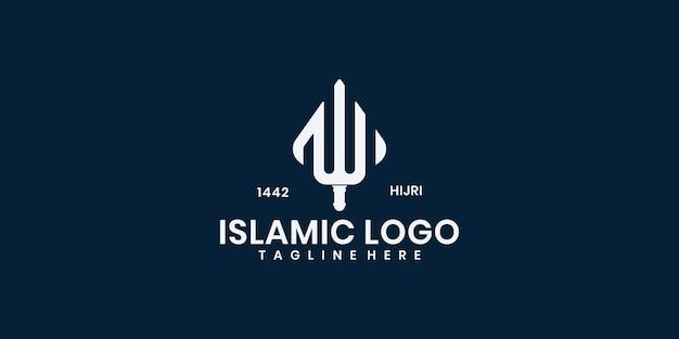 モスクのロゴテンプレートデザインベクトル、エンブレム、コンセプトデザイン、クリエイティブシンボル