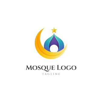 달 모양의 모스크 로고