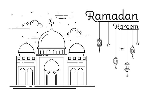 Мечеть монолинии стиль концепции дизайна